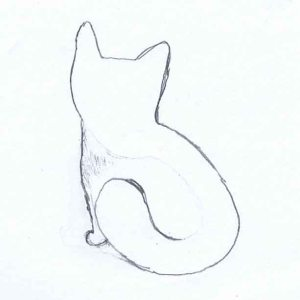 Cat or Fox with some lines added